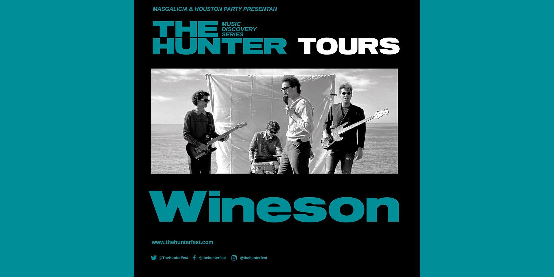 Wineson, en noviembre en Barcelona y en diciembre en Madrid con The Hunter