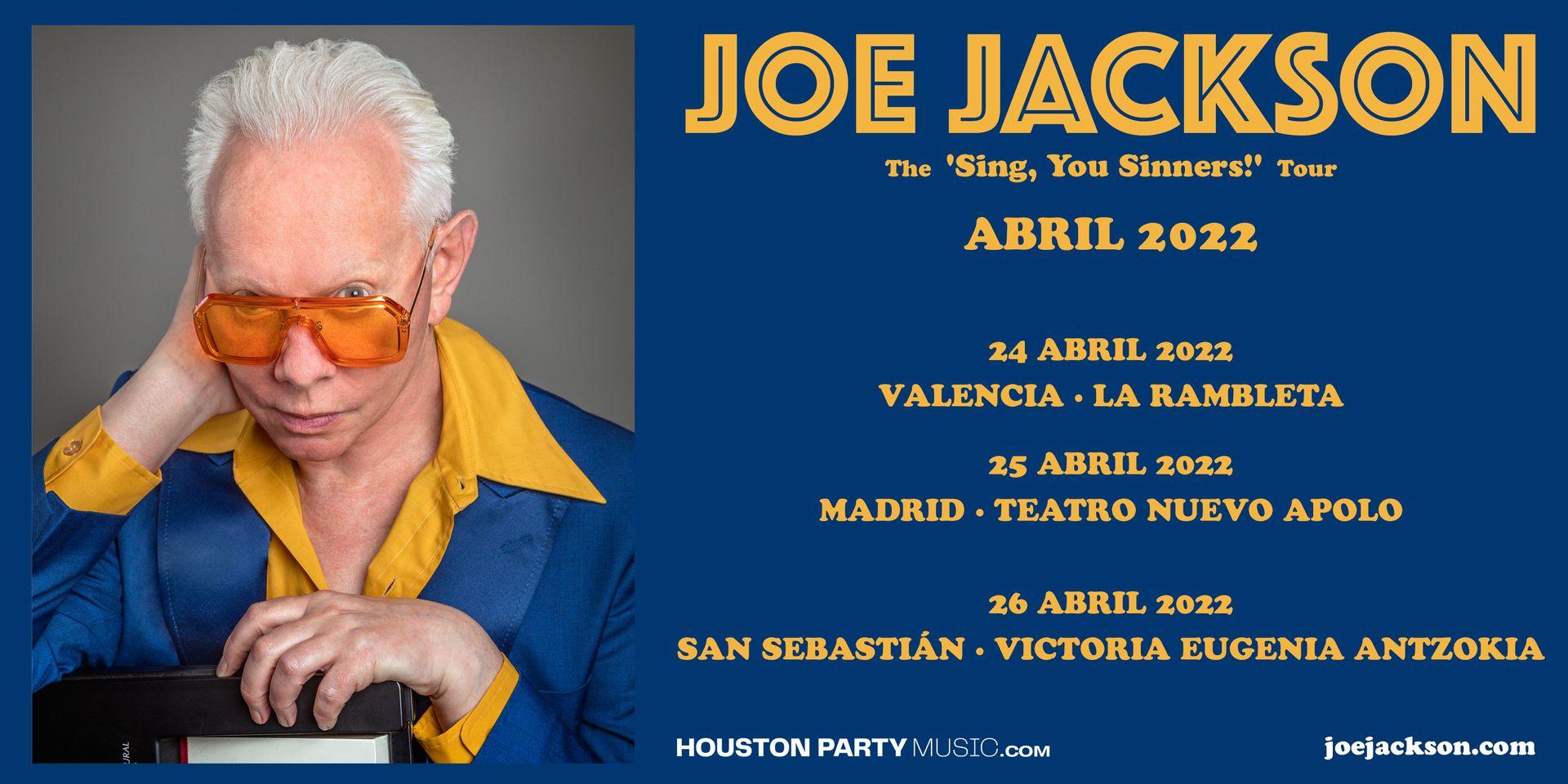 Joe Jackson añade el Teatro Nuevo Apolo de Madrid a su gira de abril de 2022