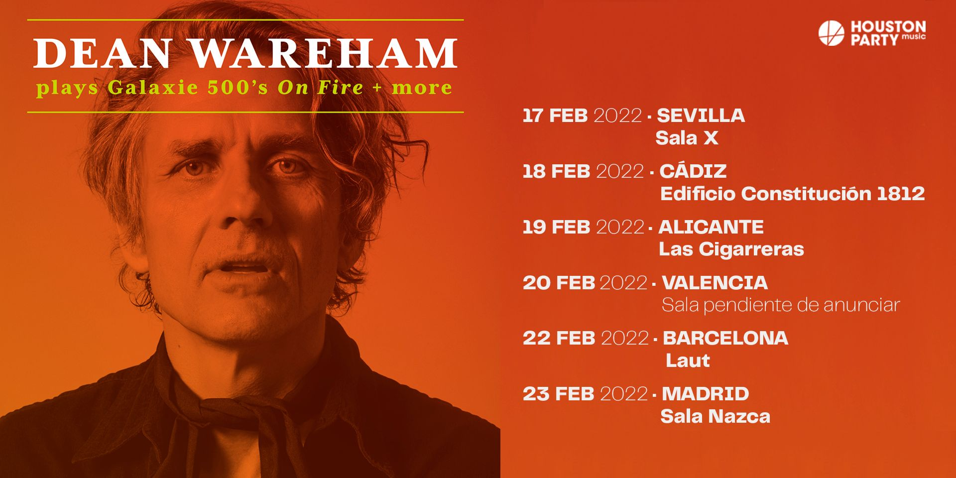 """Dean Wareham plays Galaxie 500's 'On Fire' + more"", de gira en febrero de 2022"