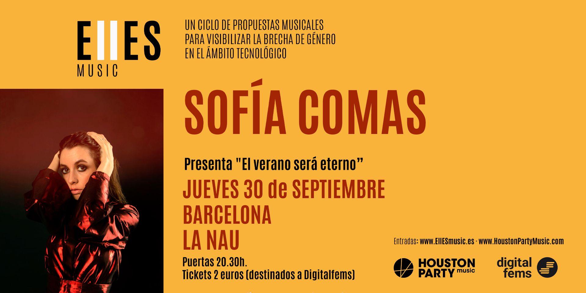Sofía Comas en Barcelona el 30 de septiembre con EllESmusic