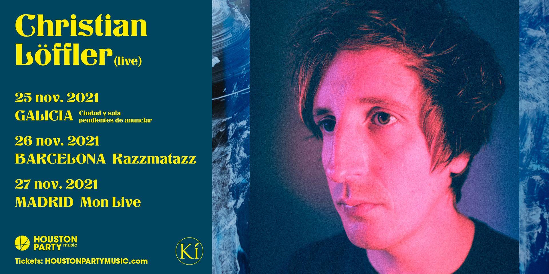 Christian Löffler, este noviembre en Galicia, Barcelona y Madrid