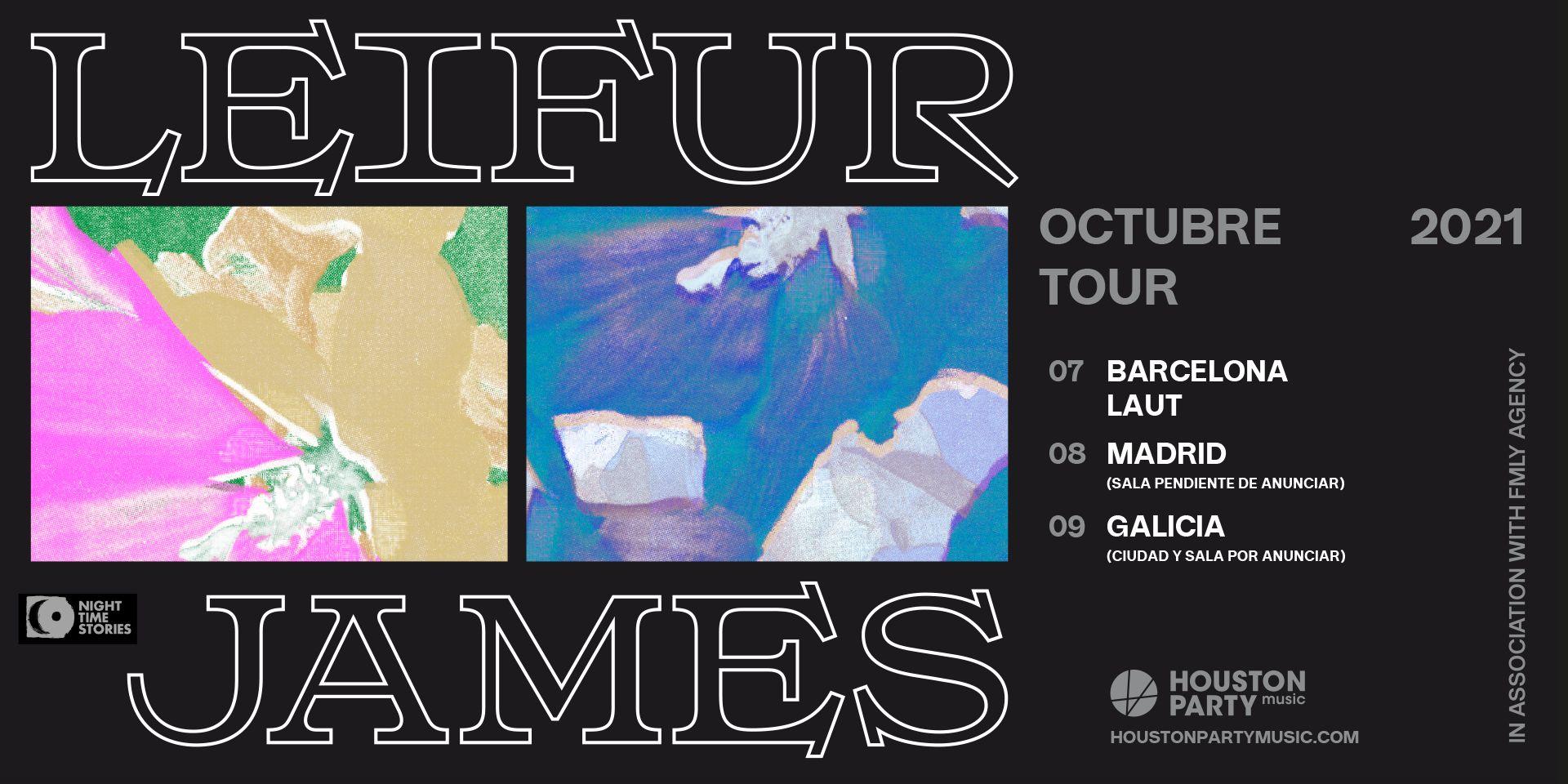 Leifur James, en octubre de 2021 en Barcelona, Madrid y Galicia