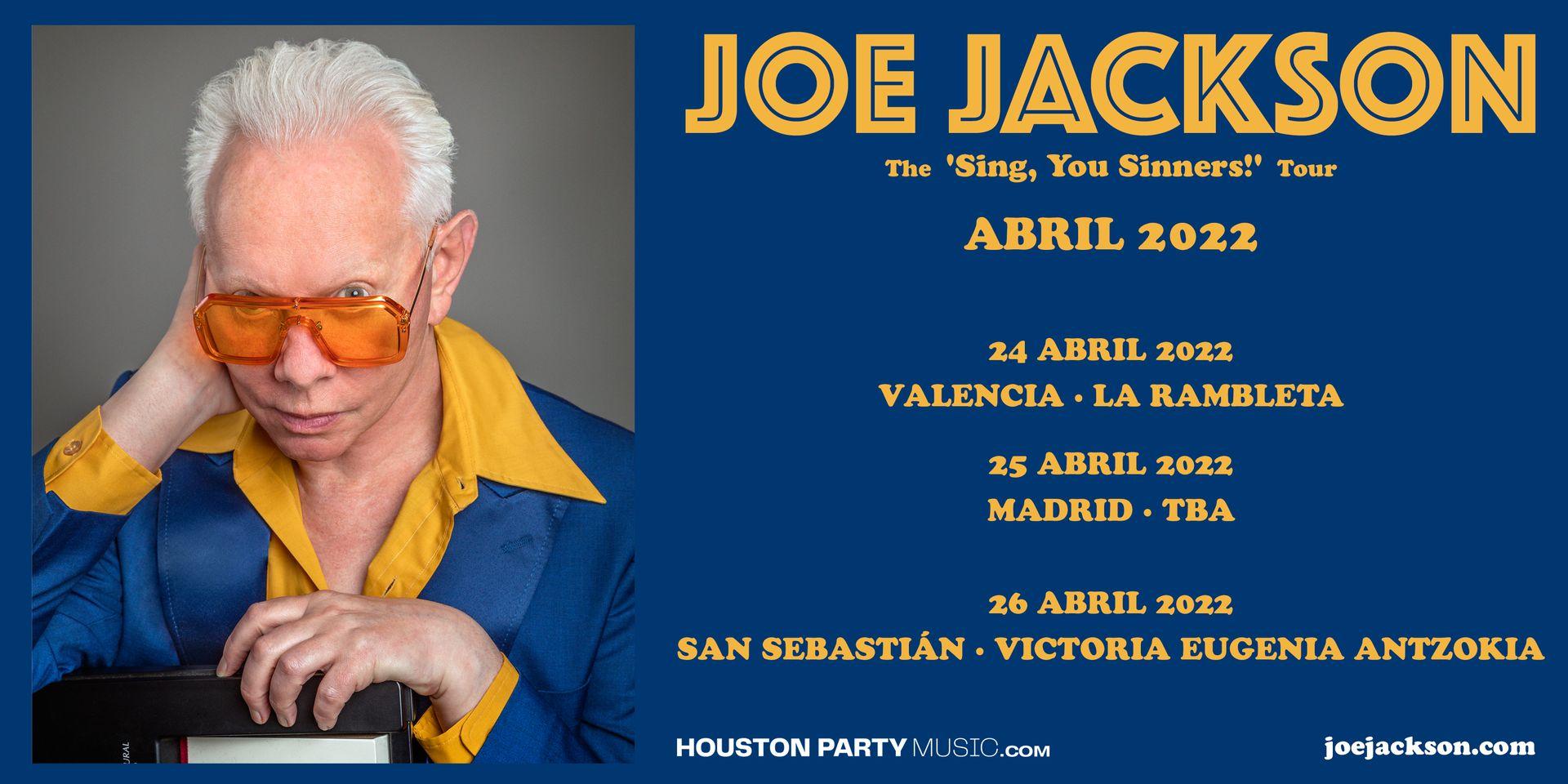 Joe Jackson actuará en abril en Valencia, Madrid y San Sebastián