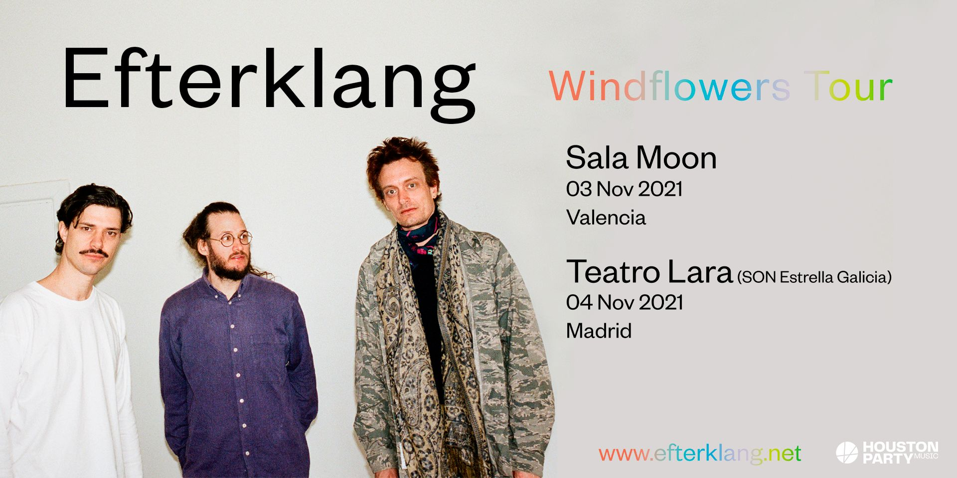 Efterklang actuarán este noviembre en Valencia y Madrid