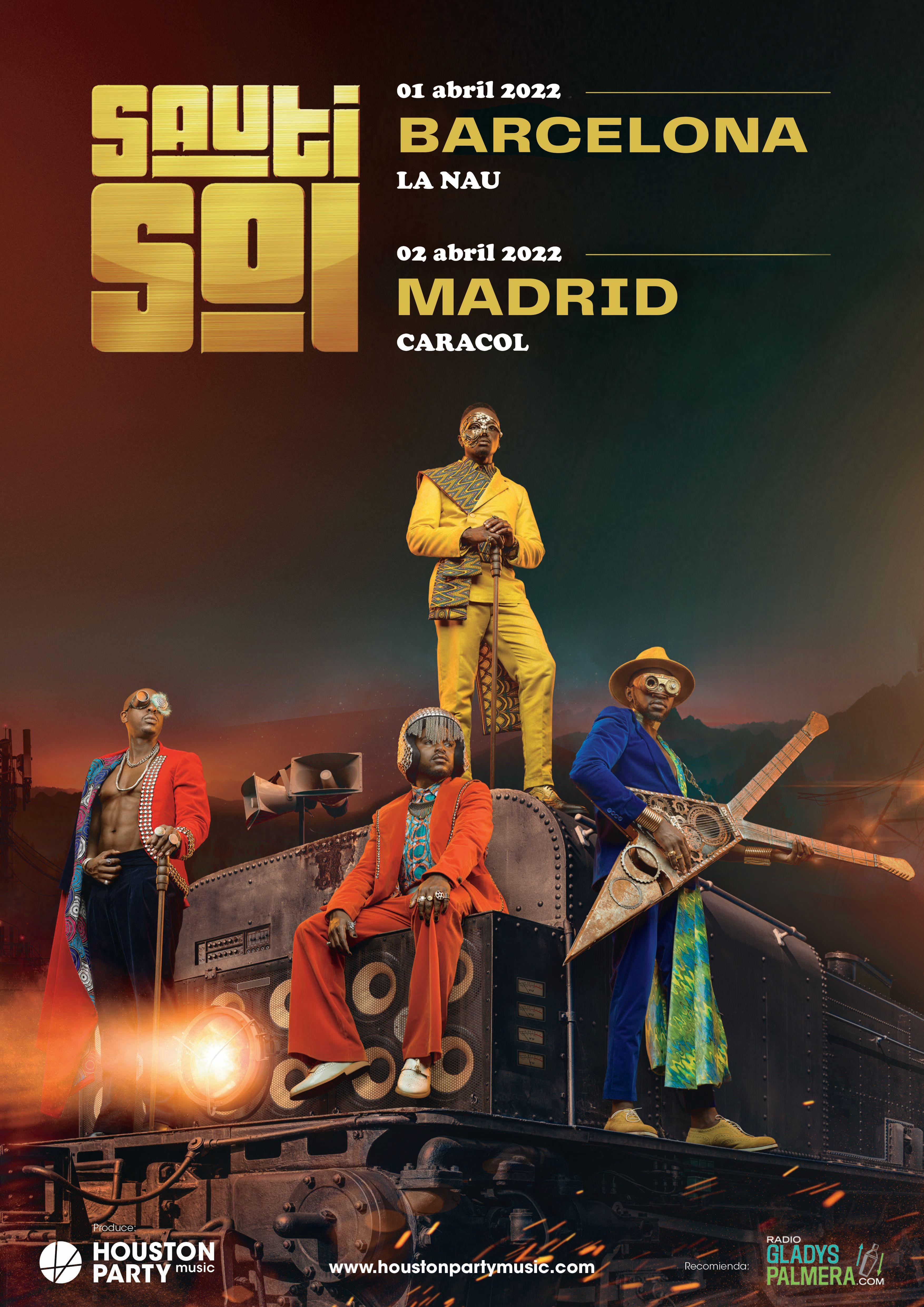 Sauti Sol posponen su gira a abril de 2022