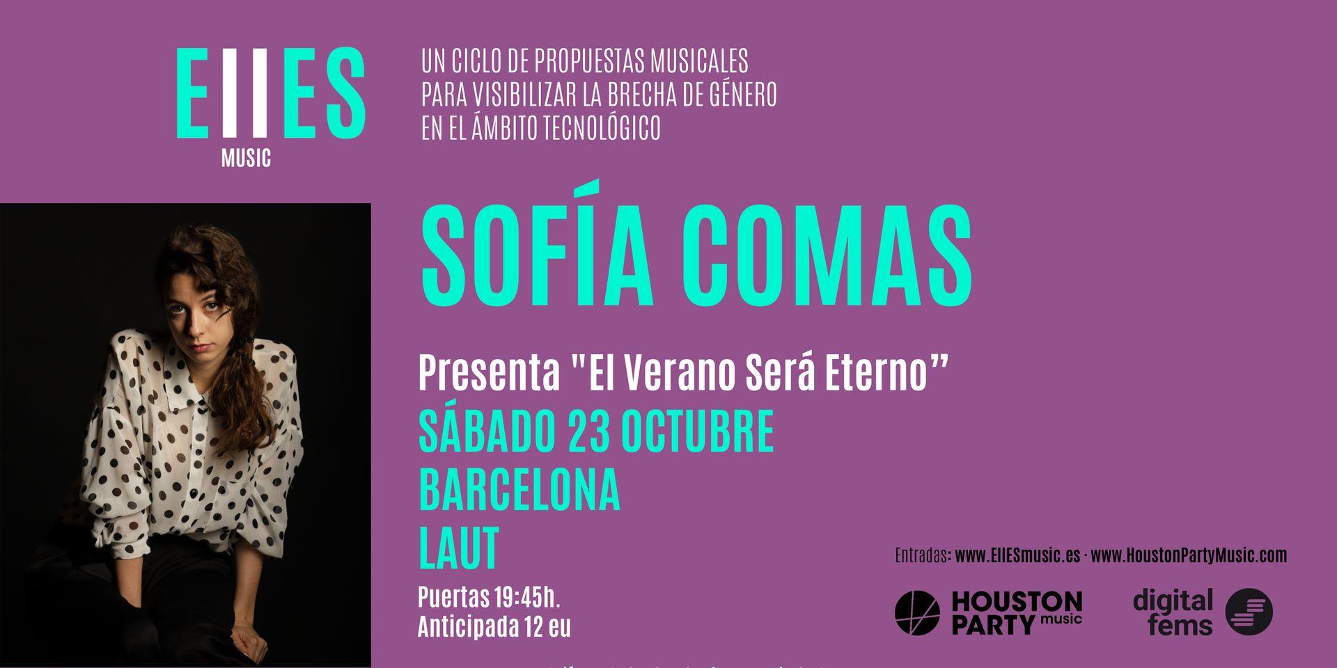Sofía Comas, el 23 de octubre en la sala Laut de Barcelona con EllESmusic