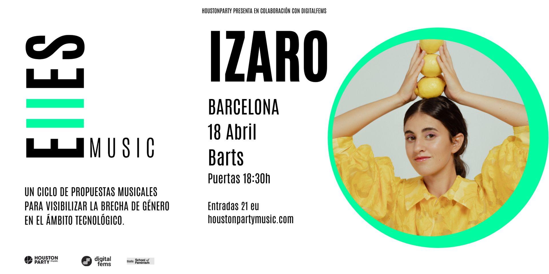 Izaro, el 18 de abril en Barcelona con EllESmusic