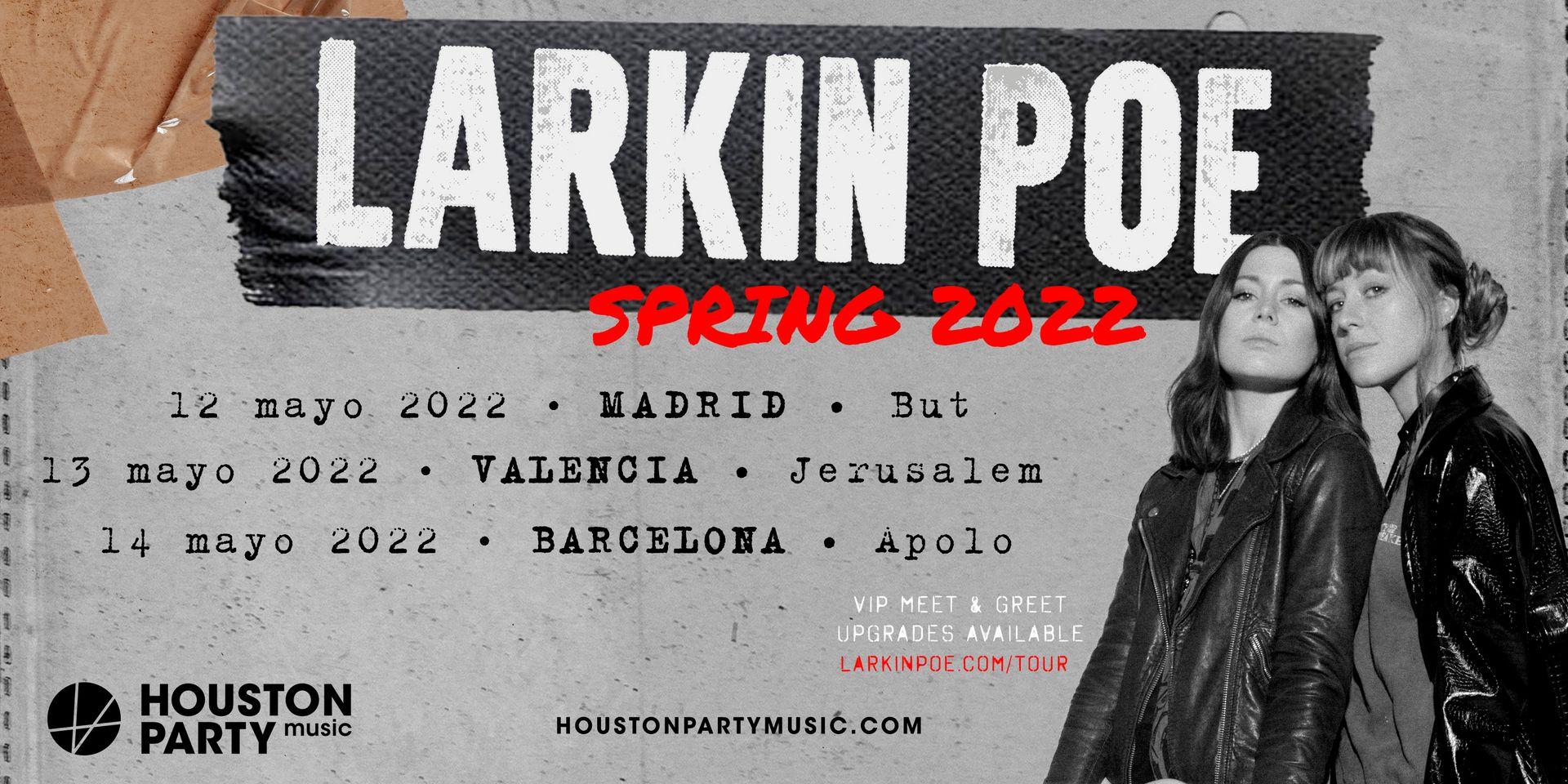 Larkin Poe pasan su actuación de Madrid a la sala But